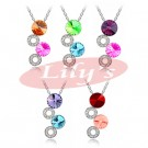 Indesign crystal necklace - various colour choices - good gift idea