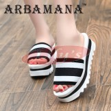 Beautiful Fashion Beach Slippers Great Gift Sandals Shoes for Her | White & Black