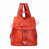 Stylish Ladies Ruby Leather Backpack Fashion Bag - Great Gift Idea
