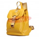 Stylish Ladies Yellow Leather Backpack Fashion Bag - Great Gift Idea