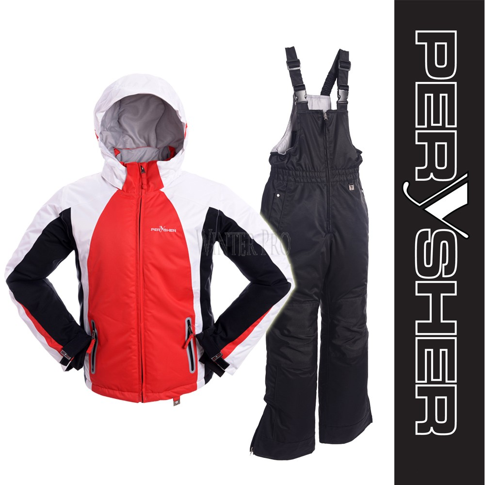 PERYSHER ExtraWarm Childrens Snowboard Ski Jacket and Pants Combo for kids
