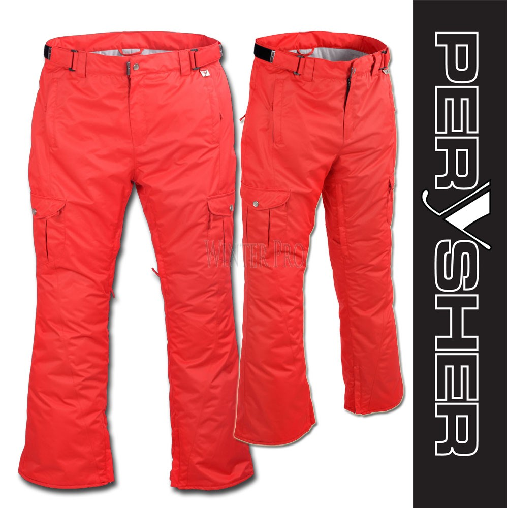 PERYSHER  LIBERTY Womens Red Ski Pants / Snowboard Pants for Ladies