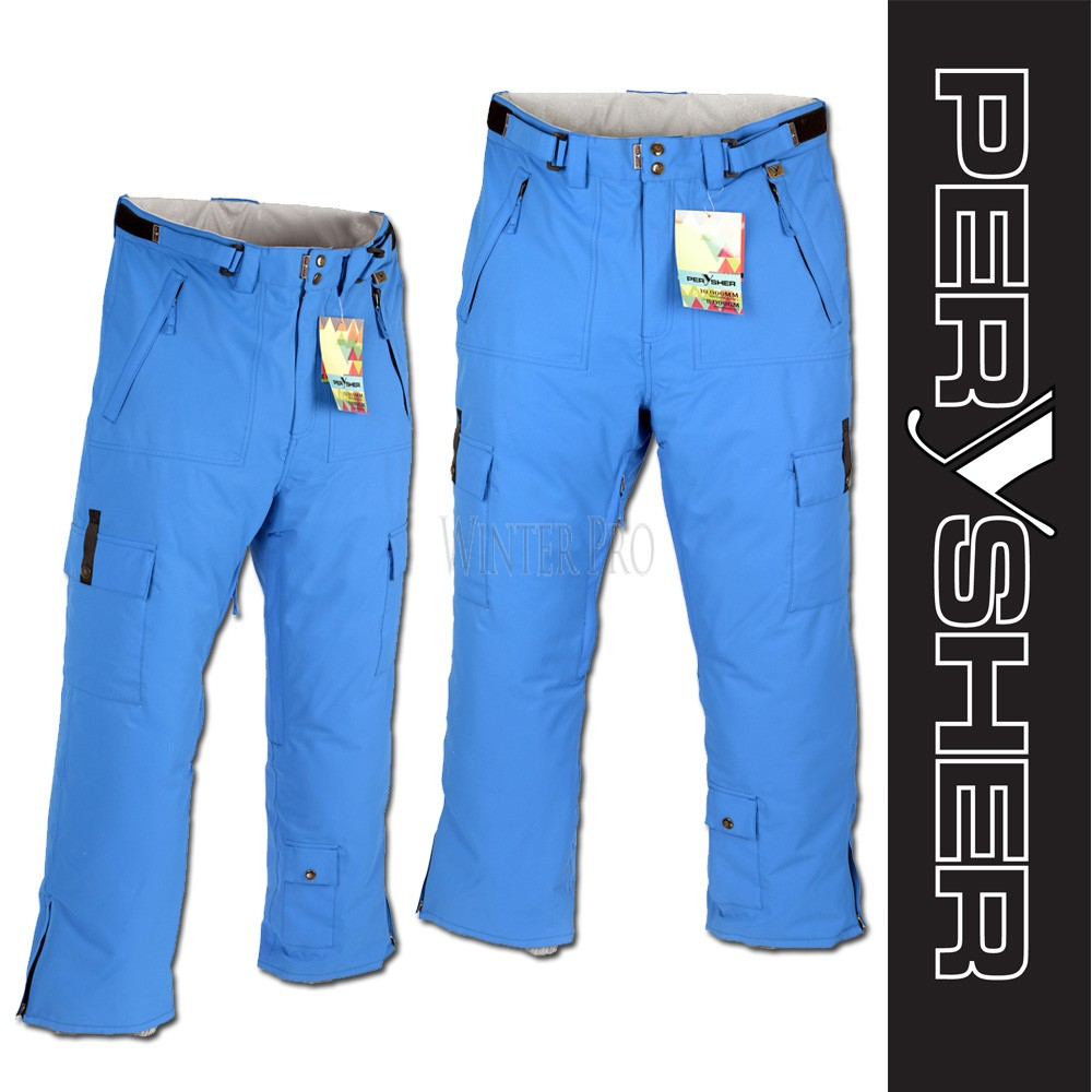 PERYSHER  PERFORMANCE Blue Mens Ski Pants / Snowboard Pants