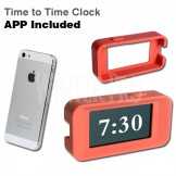 Designer Pink-Red Alarm Clock Cover & App for iPhone - Made In Taiwan