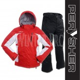 PERYSHER Ladies Snowboard / Ski Suit: Racer V2 Jacket & Liberty Pants - Snazzy Red & Onyx