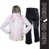 PERYSHER  Zara V2 Lady Board / Ski Jacket & Pants - Rosy White & Black