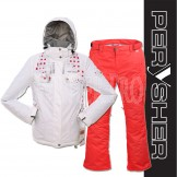 PERYSHER  Zara V2 Womens Board / Ski Set : Jacket & Pants (Lady White & Red)