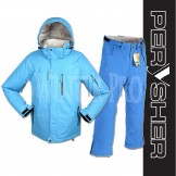 PERYSHER Mens Snowboard / Ski Suit: Dimension Jacket & Performance Pants | Blue Combo