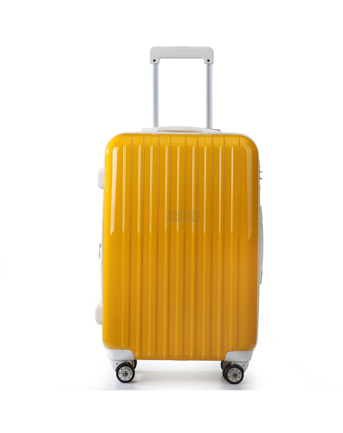 """AIRCROSS 2PC Set Luggage A55 Yellow Hard Case Expandable Trolley Luggage - 24""""26"""""""