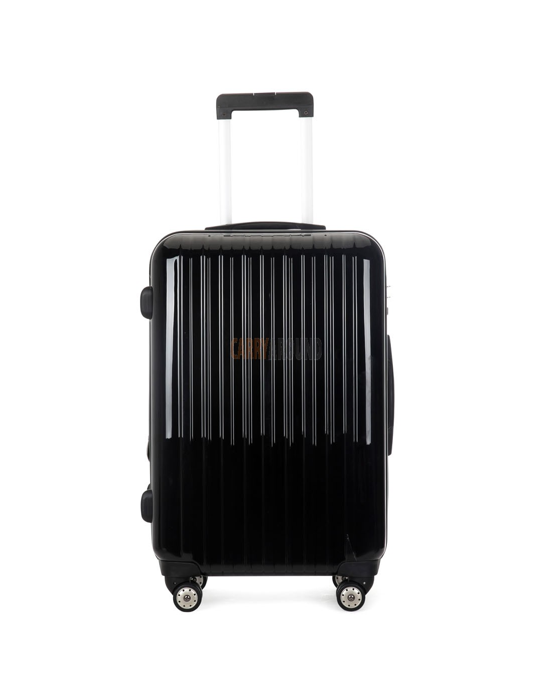 """AIRCROSS 2PC Set Luggage A55 Black Hard Case Expandable Trolley Luggage - 24""""26"""""""