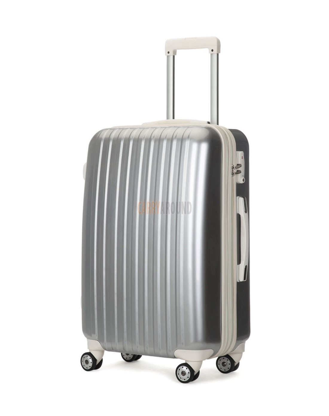 """AIRCROSS 2PC Set Luggage A55 Grey Hard Case Expandable Trolley Luggage - 20""""24"""""""