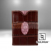 LLH - LiuLiHua Brown Leather Tri-Fold Unisex Wallet