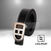 LLH -  Black Calf Leather Male Belt