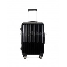 "AIRCROSS 2PC Set Luggage A55 Black Hard Case Expandable Trolley Luggage - 24""26"""