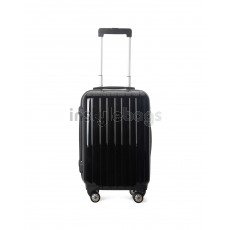 AIRCROSS Luggage A55 Black Hard Case Expandable Trolley Luggage - 20""