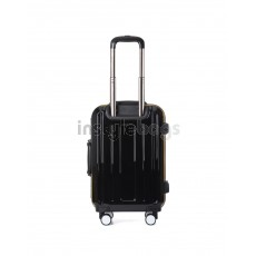 "AIRCROSS 2PC Set Luggage A56 Black Hard Case Trolley Luggage -20""& 24"""