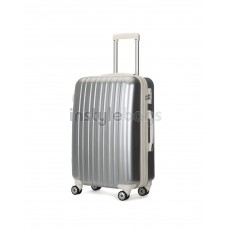AIRCROSS Luggage A55 Grey Hard Case Expandable Trolley Luggage - 24""