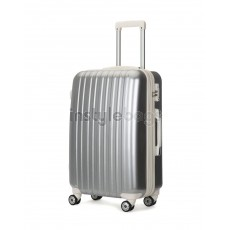 "AIRCROSS 2PC Set Luggage A55 Grey Hard Case Expandable Trolley Luggage - 20""24"""