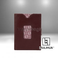 LLH - LiuLiHua Leather Tri-Fold Great Gift Unisex Wallet Brown
