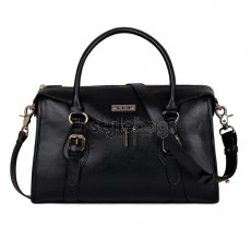 Gorgeous Ladies Fashion Leather Shoulder Bag / Tote Handbag - Black