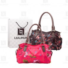 LLH Lady's Luxuriant Printed Ladies Bowler Bag