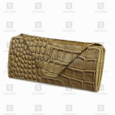 LLH Lady's Crocodile Skin Handmade Purse
