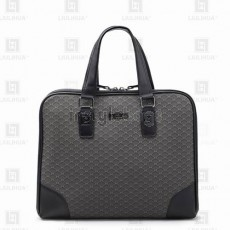 LLH Men's Lattice Canvas Printed Designer Briefcase