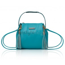 Cute Lady's Aqua  Fashion Leather Shoulder Bag / Tote Handbag