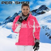 PERYSHER Racer V2 Women Cherry-Blossom-Pink Snowboard / Ski Jacket for Ladies