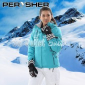 PERYSHER  Zara V2 Womens Frozen Blue Snowboard Jacket / Ski Jacket for Ladies