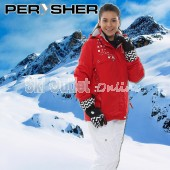 PERYSHER  Zara V2 Womens Sharp Red Snowboard Jacket / Ski Jacket for Ladies
