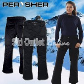 NEW PERYSHER  LIBERTY Womens Ski  Snowboard Pants for Ladies (Onyx Black)