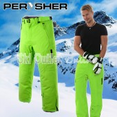 NEW PERYSHER PERFORMANCE Mens Ski Pants / Snowboard Pants Chartreuse Green