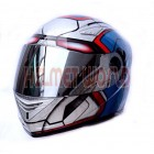 Awesome MASEI Ironman Patriot Motorcycle Motorbike Helmet - DOT & ECE Approved