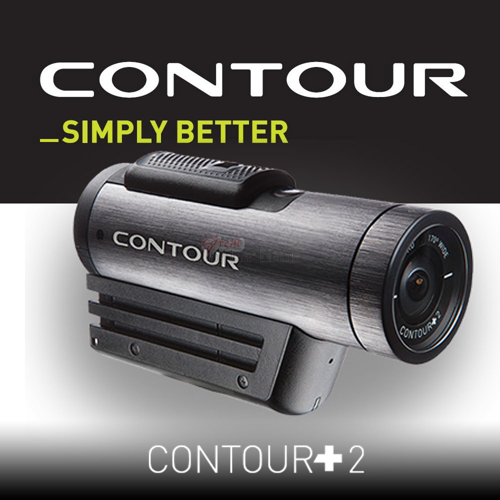 Contour +2 HD Action GPS Enhanced Video Camcorder Camera - Black