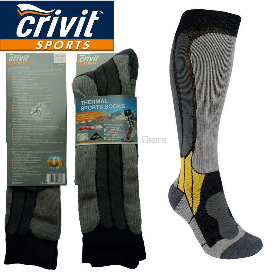 2 Pairs x Crivit Sports Warm & Breathable Socks - Hiking Socks Ski Snowboarding Socks