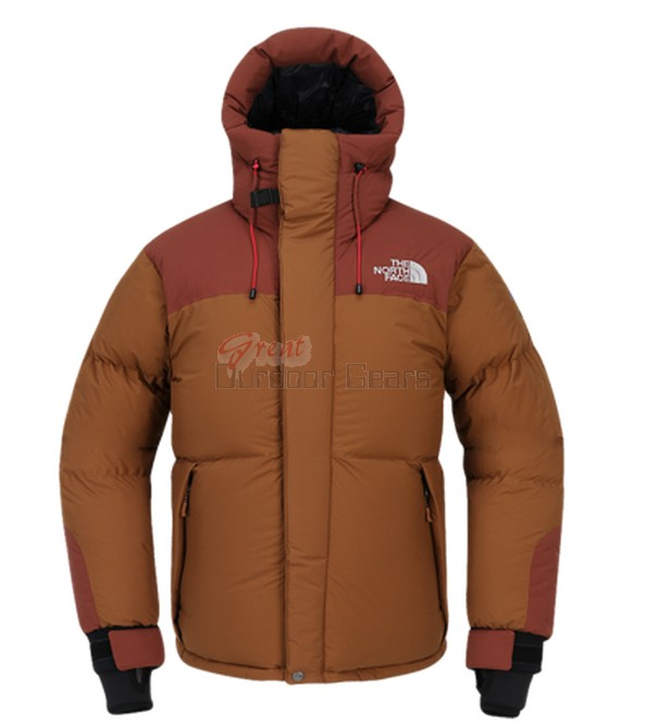 TNF The North Face Brown Mens HIMALAYAN PARKA 3 Jacket - Water Resistant & Wind Proof