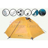 Kaima Easy-Setup 2 Person Camping Tent - Blue / Yellow