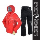 PERYSHER  Zara V2 Womens Board / Ski Jacket & Pants for Ladies - Red & Black