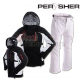 PERYSHER Racer V2 Womens Board / Ski Jacket & Pants for Ladies | Contrast Black & White