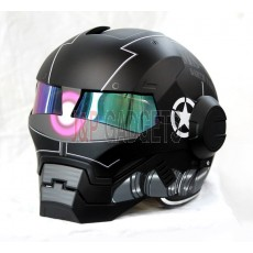 Masei 610 Super Hero Modular Motorcycle Helmet - DOT Approved Storm Trooper Black