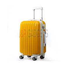 AIRCROSS Luggage A55 Yellow Hard Case Expandable Trolley Luggage - 20""