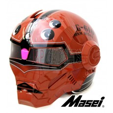 Masei 610 Gundam Acguy Modular Motorcycle Helmet - DOT Approved Brown
