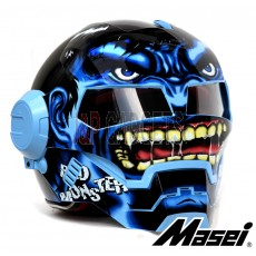Masei 610 Blue Monster Modular Motorcycle Helmet - DOT Approved