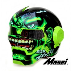 Masei 610 Green Monster Modular Motorcycle Helmet - DOT Approved