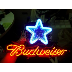 "NEON Sign - Star Budweiser 13"" x 8"""
