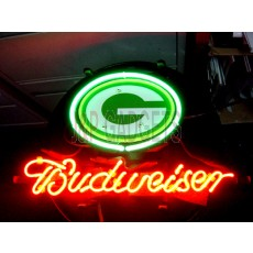 "NEON Sign - Greenbay Budweiser 13"" x 8"""