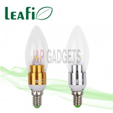 5 x LEAFI 3W E14 LED Energy Saving Candle Ellipse Light Bulbs Globes