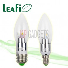 5 x LEAFI 3W E14 / E27 LED Energy Saving Candle Ellipse Light Bulbs Globes