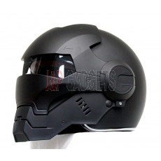 Masei 610 Super Hero Modular Motorcycle Helmet - DOT Approved Matt Black
